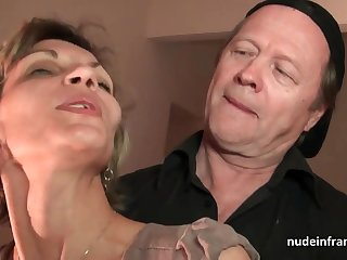 Older assassinate and youthfull pipe drill French mature and sploog her face almost spunk in threesome