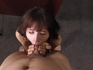 Trashy young slut gets paid to fuck in a casting office
