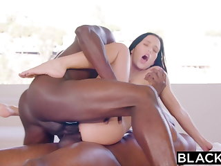 BLACKED Megan Rain Gets DPd By Sugar-coat Padre and His Join up