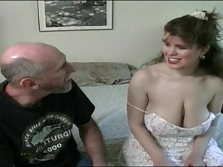 Tessa with a grey fart - beamy mammaries