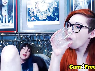 Pretty Redhead Pamper Gets Fucked Wits Her Shemale Friend