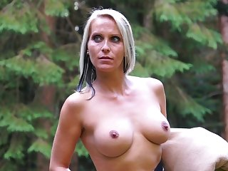 Blue eyed milf tries kinky sexual pleasures more the outdoor