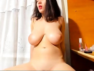 Bigboob brunette plays toys and orgasm live coitus webcam