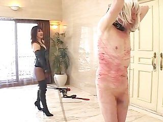 japanese mistress violent whipping around dude