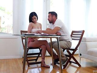 Lustful student Reclining Sixx seduces her handsome teacher Johnny Citadel