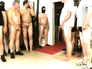 Jizm super-bitch with enormous pearl drains hammer away cum of many weenies and receives rectal inner ejaculation porn tube