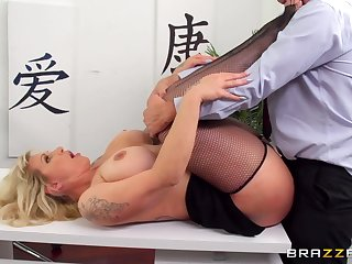 Hiring a MILF Ryan Conner to be a secretary was a great idea