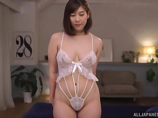 Japanese MILF with upfront tits Otomi Rina gets a fast doggy style