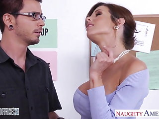 Stockinged Veronica Avluv fuck relating to the office