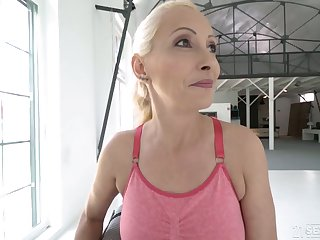 Poorly shaved cunt of blonde mature Szandi is properly fucked by smile radiantly