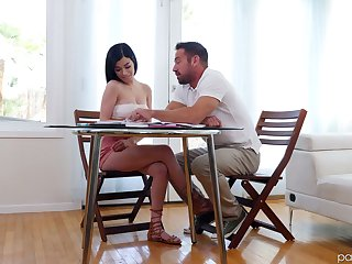 Lustful student Reclining Sixx seduces her handsome teacher Johnny Citadel