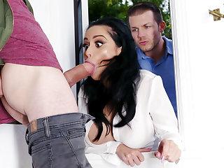 Lustful neighbors fucked permanent busty wife