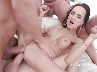 Welcome Adjacent to Aletta Black 4on1 GangBang with Double Anal