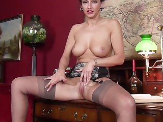 Scottish Infant Cassie Clarke in the air stockings