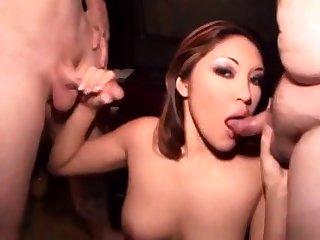 Porn star sucks 2 inch cock
