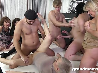 Granny Group sex orgy - euro porn with venerable matures