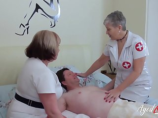 BBW nurses help their patient in the air his concupiscent needs