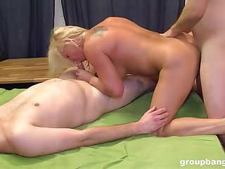 Married mature fucked at the end of one's tether several younger men