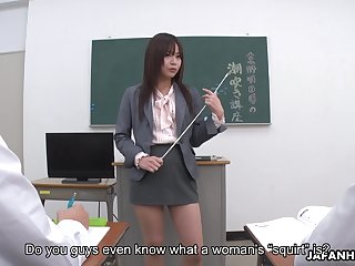 Horny tutor from Japan Asuka Kyono wanna acquire her wet pussy fingered
