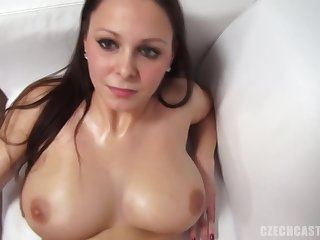 Andrea got naked during a porn video casting and did everything she could to get hired
