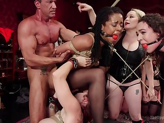 BDSM rough having it away with Aiden Starr and Mona Wales affianced