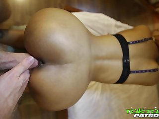 Slender Asian bitch Jean just loves fucking doggy in the hotel