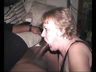 Hungry grandma sucking bbc and succeed in cum in mouth
