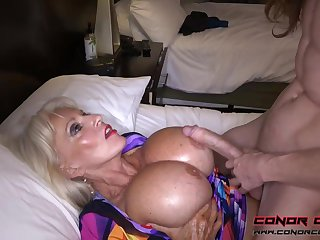Massive jugged, platinum-blonde grandma doesn't plan to stall penetrating men, because tingle perceives so excellent
