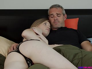 Wretched step daughter Nikki Fetching rides her step dad strong cock