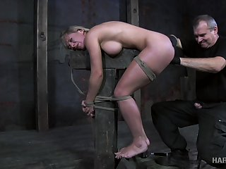 Poor bent let go busty whore Dia Zerva is doomed up together with masturbated