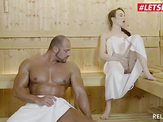 Cute Tattooed Teen Angel Lay into Gets Their way Pussy Destroyed By A Real Fat Guy - Angel Lay into in Sauna